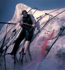 Gregory Peck en su lucha final contra Moby Dick en la película de John Huston