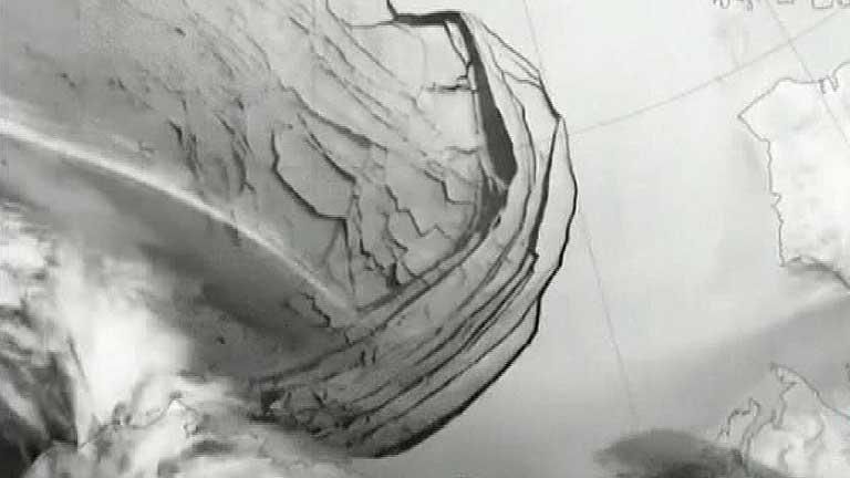 Grietas de hasta mil kilómetros de longitud en el hielo de Alaska