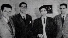 El grupo fundador de ETA en los años 50. En la imagen, entre otros: Txikierdi y Julen Madariaga