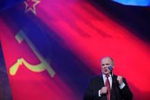 Guennadi Ziugánov, candidato del Partido Comunista de Rusia