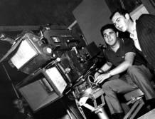 Gustavo Pérez Puig (izq.) trabajó en TVE desde 1956, año de creación de la cadena