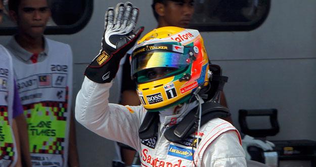 Hamilton saldrá desde la 'pole' en Malasia