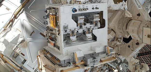 El hardware de la RRM listo para ser instalado en la Estación Espacial Internacional.