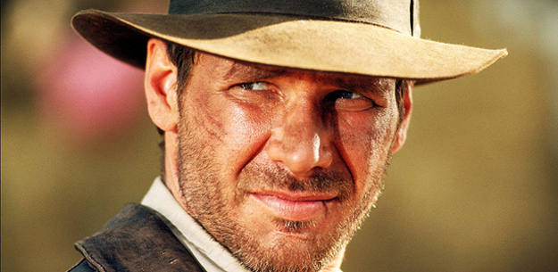 Harrison Ford en el papel de Jones, cuando tenía 40 y pocos