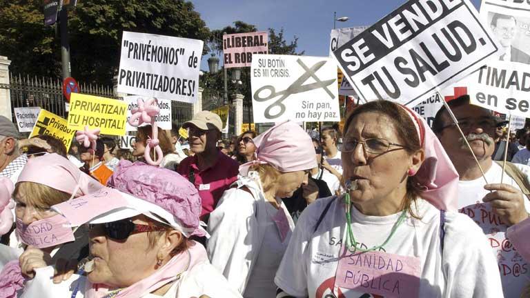 """Duodécima marcha de la """"Marea Blanca""""  bajo el lema """"Hay motivos para seguir luchando"""""""
