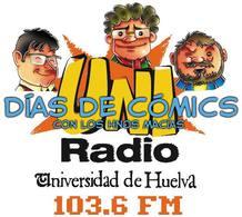 Los hermanos Macías presentan el programa 'Días de Cómics' en Uniradio, la radio de la Universidad de Huelva