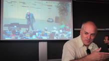 Alberto Casas, director del ITF, durante la conferencia en la que se ha anunciado el descubrimiento
