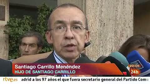 """Ver vídeo  'El hijo de Carrillo: """"Ha sido lúcido hasta el último momento""""'"""