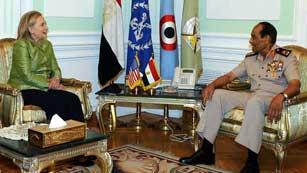 Ver vídeo  'Hillary Clinton se reune con el nuevo presidente de Egipto'