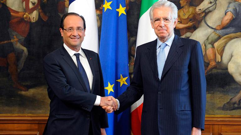 Hollande y Monti pide que se concrete la ayuda a España