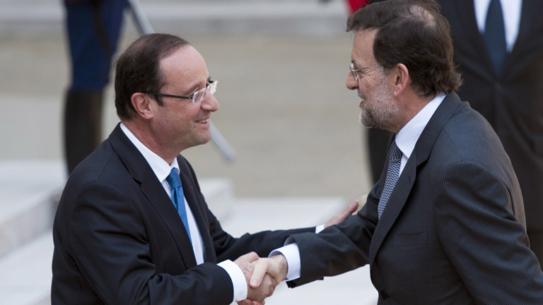 Hollande recibe a Rajoy en el El&iacute;seo