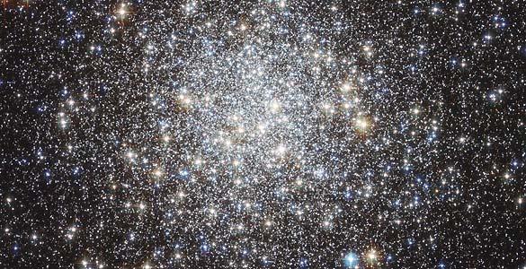Imagen facilitada del cúmulo global Messier 9, la más nítida captada por el telescopio Hubble. ESA