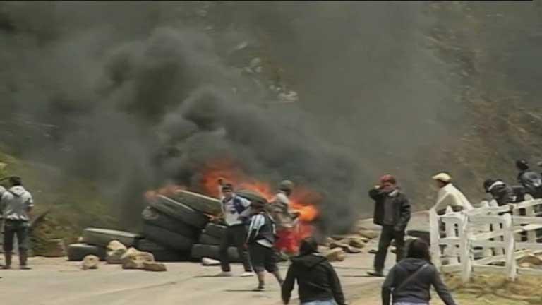 Continúa la huelga de los campesinos colombianos