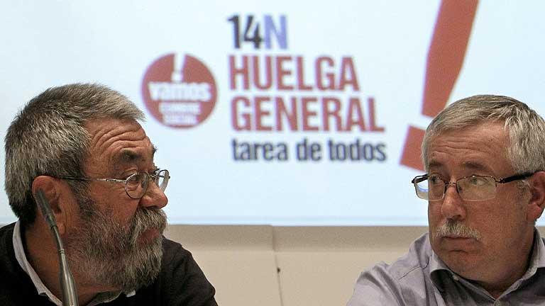 CC.OO y UGT convocan a la huelga general el 14 de noviembre