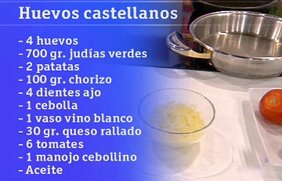 Saber cocinar - Huevos castellanos