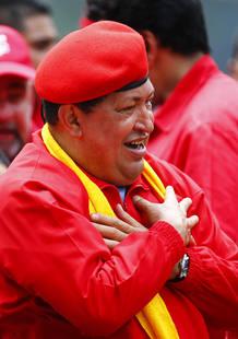 Hugo Chavez, durante el acto de arranque de campaña