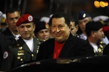 Hugo Chávez llega a Venezuela el 16 de marzo de 2012 tras su segunda operación de cáncer