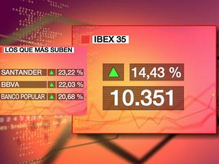 Ver v?deo  'El Ibex 35 logra la mayor subida de su historia al revalorizarse un 14,43%'