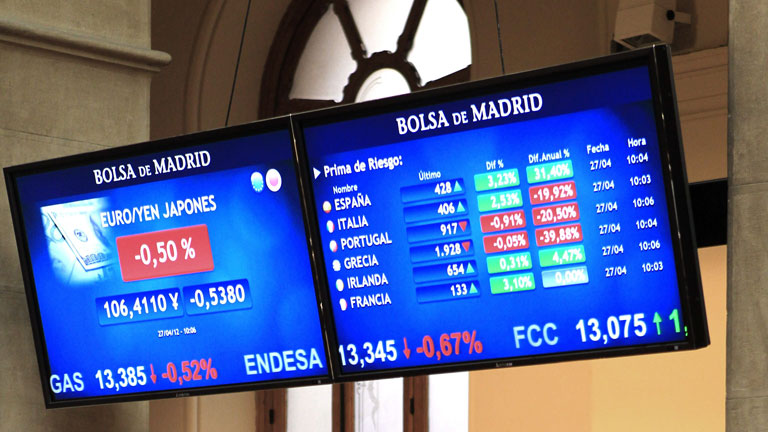 El Ibex-35 recupera el soporte de los 7.100 puntos y la prima de riesgo se sit&uacute;a en 417 puntos