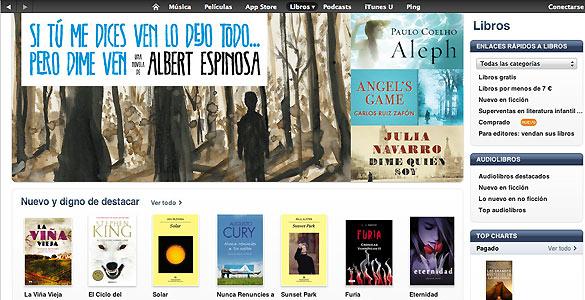 El catálogo de libros electrónicos de iTunes Store ya cuenta con títulos en español