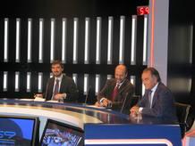 Ignacio Escolar, periodista y blogger; Miguel Ángel Fernández Sastrón, consejero de la SGAE; y Jesús Banegas, de AETIC..