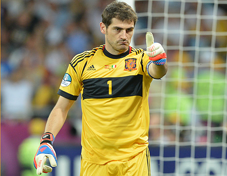 Iker Casillas, durante la disputa de la final de la Eurocopa 2012
