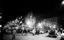 Iluminación madrileña en la Plaza de Santa Ana. 1965