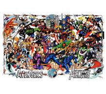 Ilustración de George Pérez por el 30 aniversario de 'Los Vengadores'