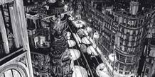 Ilustración de Miguel Navia para el libro de Treseditores dedicado a la gran Vía madrileña