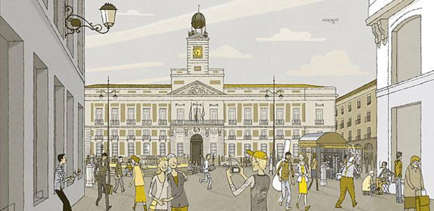 Ilustración de 'La Puerta del sol', de Juan Berrio