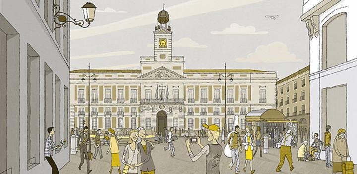 El ilustrador juan berrio nos ofrece la cara m s c lida de for Puerta del sol en directo ahora
