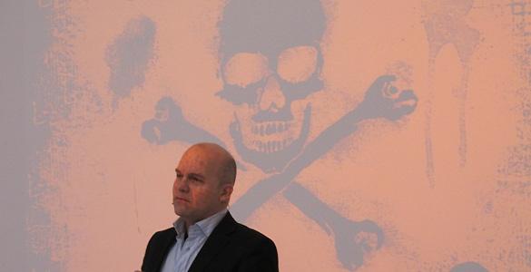 David Thompson, responsable de contenidos de Voddler, durante la presentación de la compañía en España