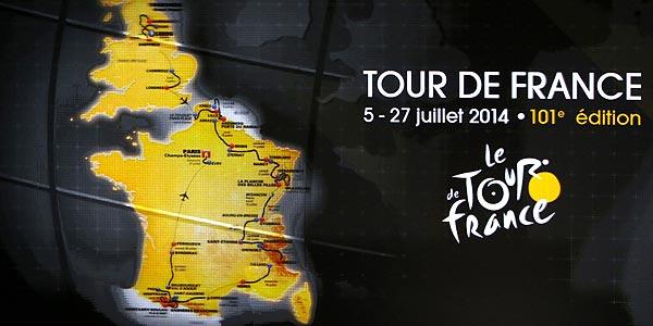 Imagen de la 101ª edición del tour de Francia 2014.
