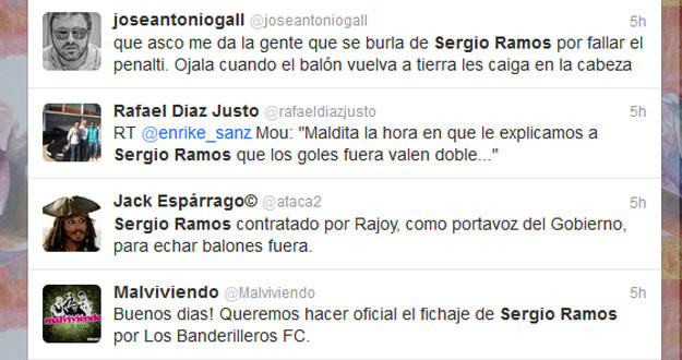 las bromas sobre Ramos en Twitter