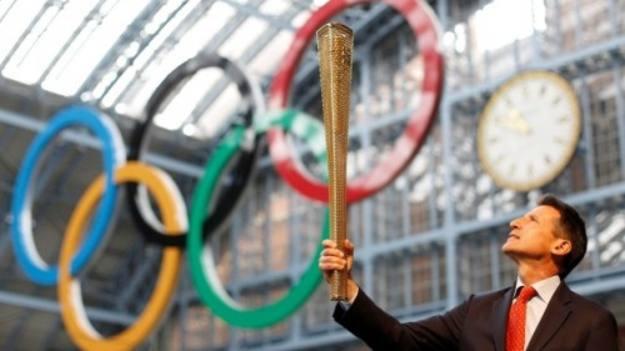 La antorcha olímpica de Londres 2012.