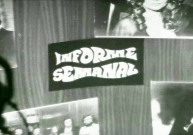 Imagen del decorado del plató de Informe Semanal en diciembre de 1974