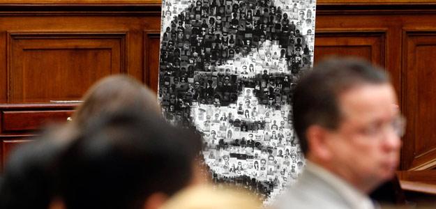 Imagen del disidente chino Chen Guangcheng en el Comité de Asuntos Exteriores del Congreso de EE.UU.