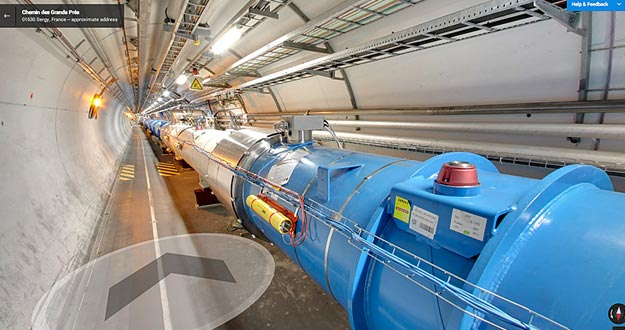 Imagen del Gran Colisionador de Hadrones de Google Street View.
