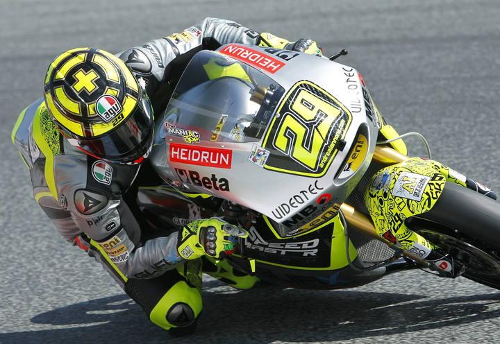 Imagen del piloto italiano de Moto2 Andrea Iannone del equipo Speed Master.