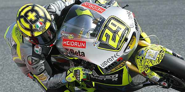 Imagen del piloto italiano de Moto2 Andrea Iannone del equipo Speed Master.