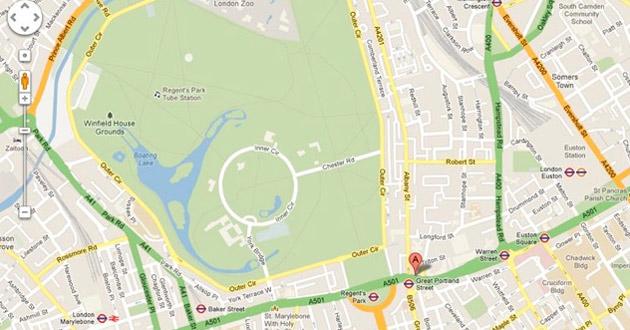 Imagen de un mapa de Google
