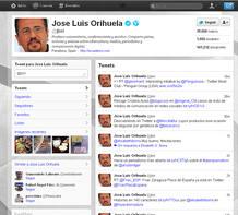 Imagen de la página de José Luis Orihuela en Twitter