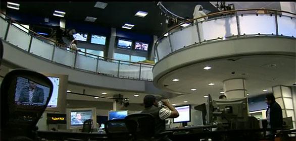 Imágen de la redacción de la cadena Al Jazeera en Doha, Catár