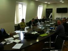 Una imagen de la reunión convocada por Álex de la Iglesia para debatir sobre la ley Sinde