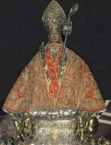 Imagen de San Fermín recorre las calles de Pamplona