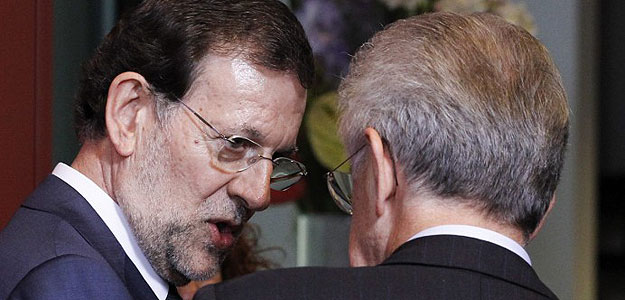 Mariano Rajoy y Mario Monti juegan sus cartas para que el BCE responda a su llamada de auxilio y compre deuda de España e Italia.