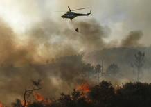 Incendio forestal en Fonsagrada en Lugo