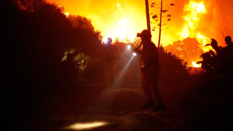 Un incendio se propaga en Málaga y obliga a desalojar varias poblaciones