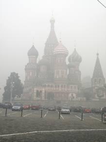 MOSCÚ ENVUELTA EN HUMO