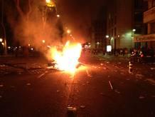 Incidentes en Madrid tras la manifestación frente al Congreso del 14N